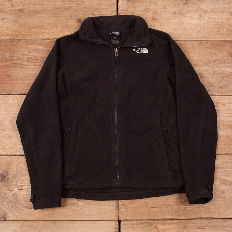 Womens Vintage North Face Black Outdoor Zip Up Fleece Jacket image 0