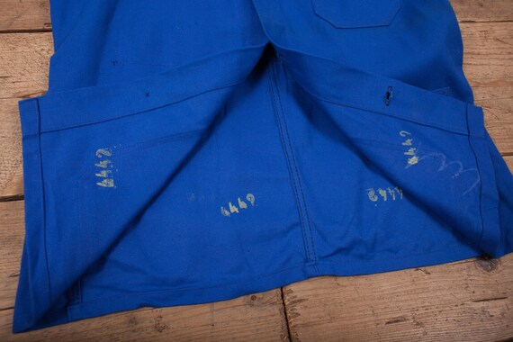 Mens Vintage Deadstock NOS Blue French Workwear C… - image 8