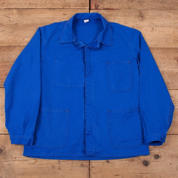 Mens Vintage Royal Blue French Utility Workwear Ch