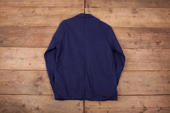 Mens Vintage Deadstock NOS Blue French Workwear C… - image 6