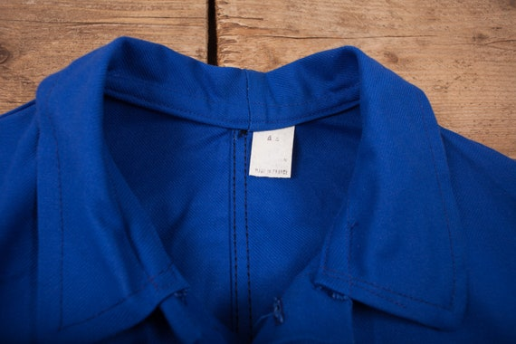 Mens Vintage Deadstock NOS Blue French Workwear C… - image 5