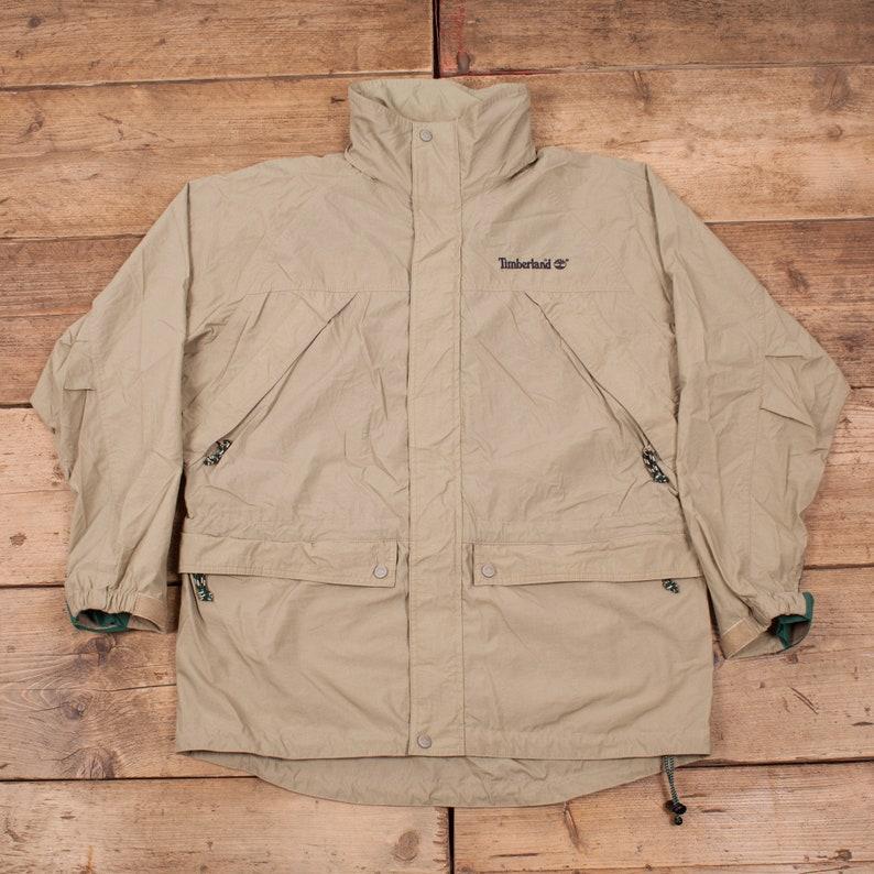 71de97e62f1 Mens Vintage Timberland Weathergear 90s Beige Raincoat Jacket | Etsy