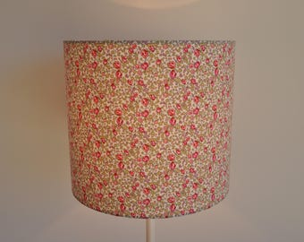 Blind / Cylindrical suspension - drum - modern - lamp - fabric liberty of London Heloise rose