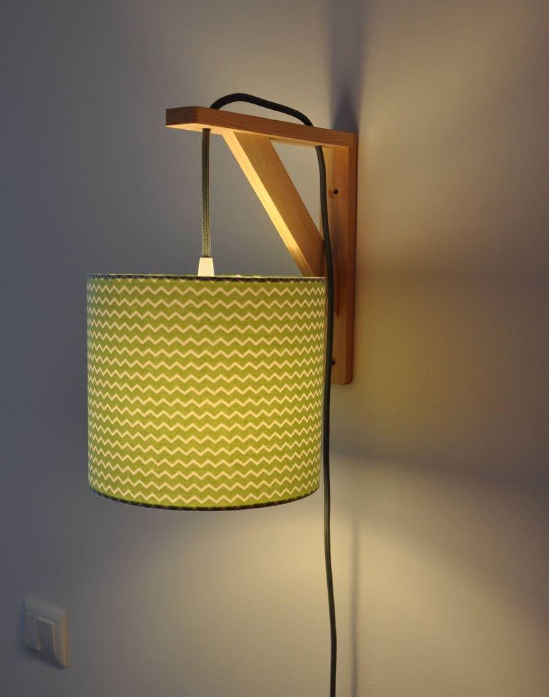 Équerre Murale De Geometriques Vert Chevron Formes Lampe Chevet Applique Design rCdxBeo