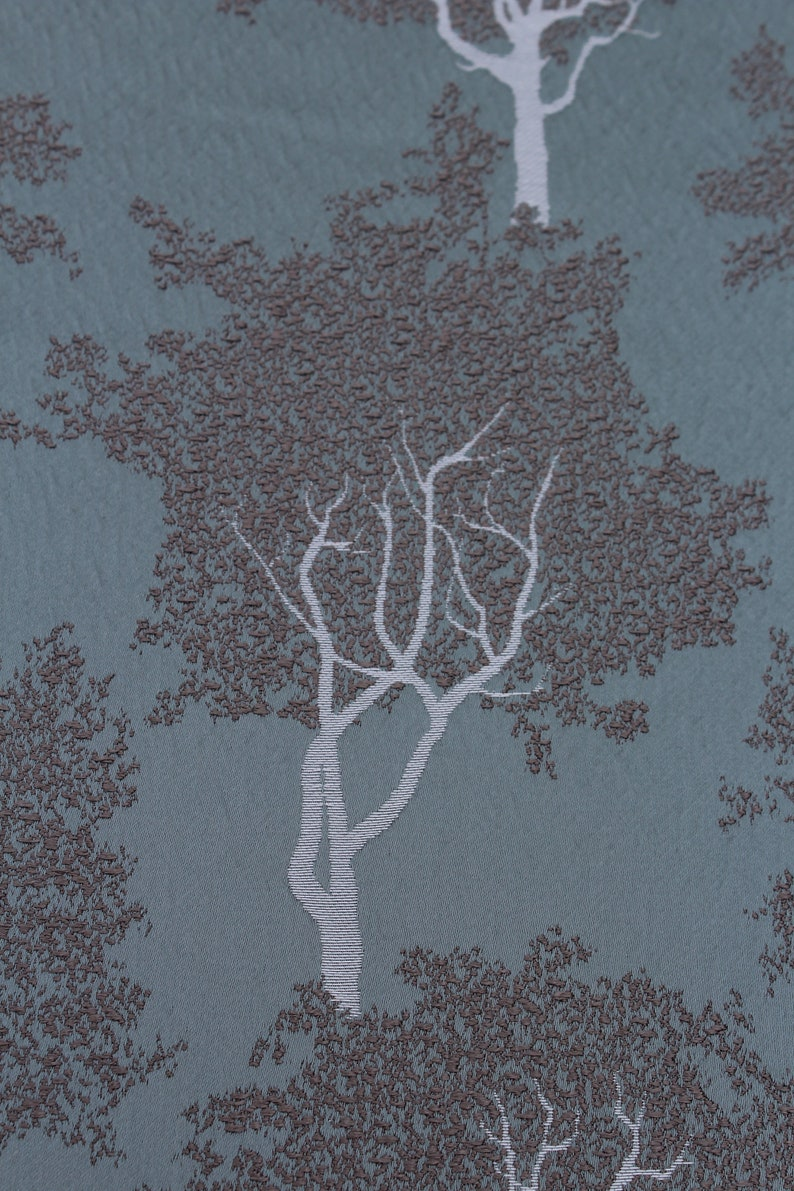 Embroidered Tree Fabric Ashley Wilde Drapery Upholstery Fabric Embroidered Duckegg Fabric