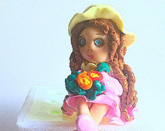 Watch box figure fimo: child bedroom decoration