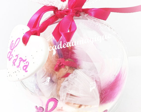 mobile baby fimo custom ball suspension; birth gift
