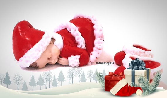 baby girl elf miniature red red fimo - pregnancy announcement