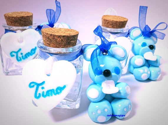 mini glass candy figurine kawaii fimo: personalized guest gift