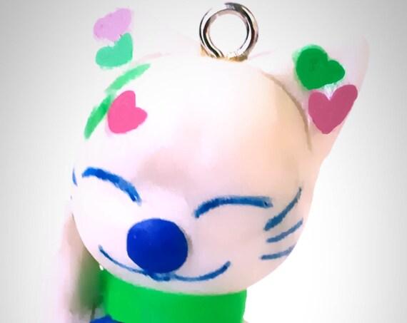 fimo figurine - lucky cat- maneki neko - lucky pendant