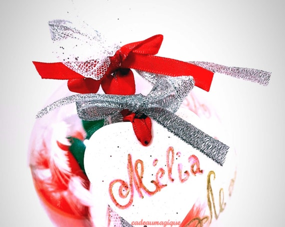 mobile baby, elf in ball: personalized birth gift
