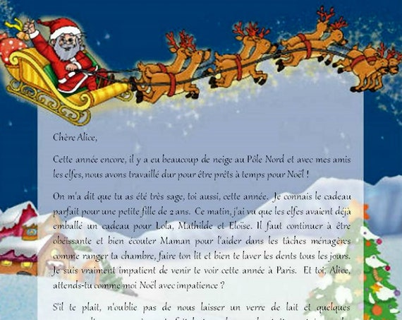 Letter from Santa Claus personalized gift child - made in France - Papa noel