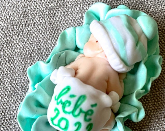 personalized naked baby in fimo: original pregnancy ad