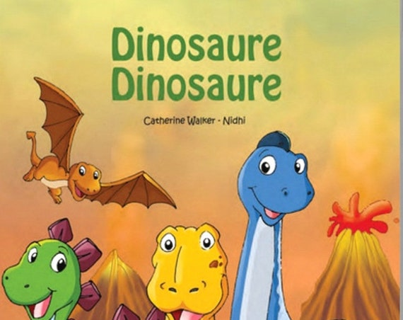 "personalized book ""Dinosaur Dinosaur"" gift first name child made in France"