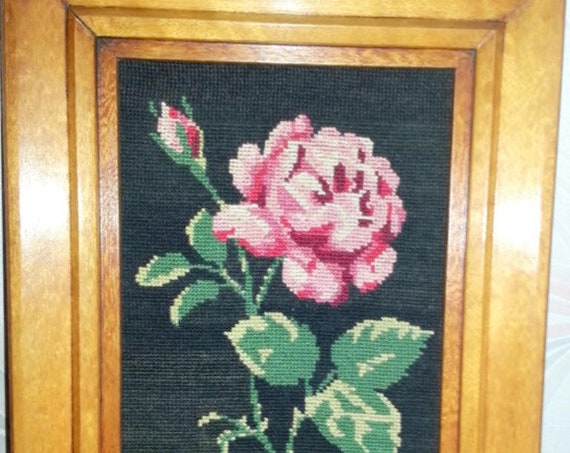 Canvass tapestry handmade wall decoration frame vintage wood