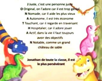 acrostic dinosaur poem