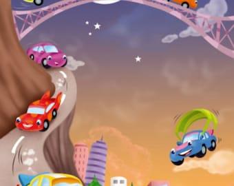 Gift idea: poem personalized Princess - dinosaur - Train - Easter eggs - sports - car - chocolate - birth gift