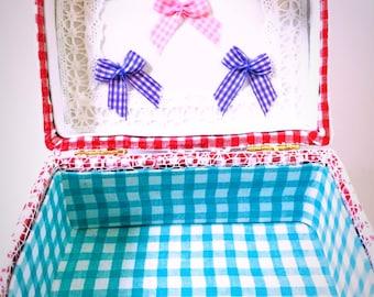 mini vintage vintage cardboard suitcase: romantic decorative gift