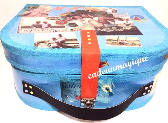 maxi suitcase customising cardboard photos: box storage memorabilia