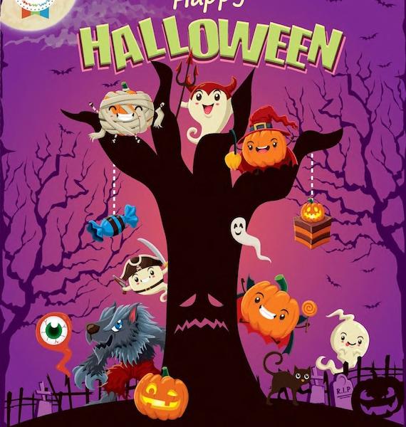 cahier d'activité spécial Halloween - cadeau enfant personnalisable - happy halloween