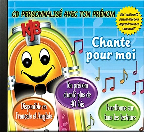 music album - CD personalizes -Chante for me- Music and songs - child bebe