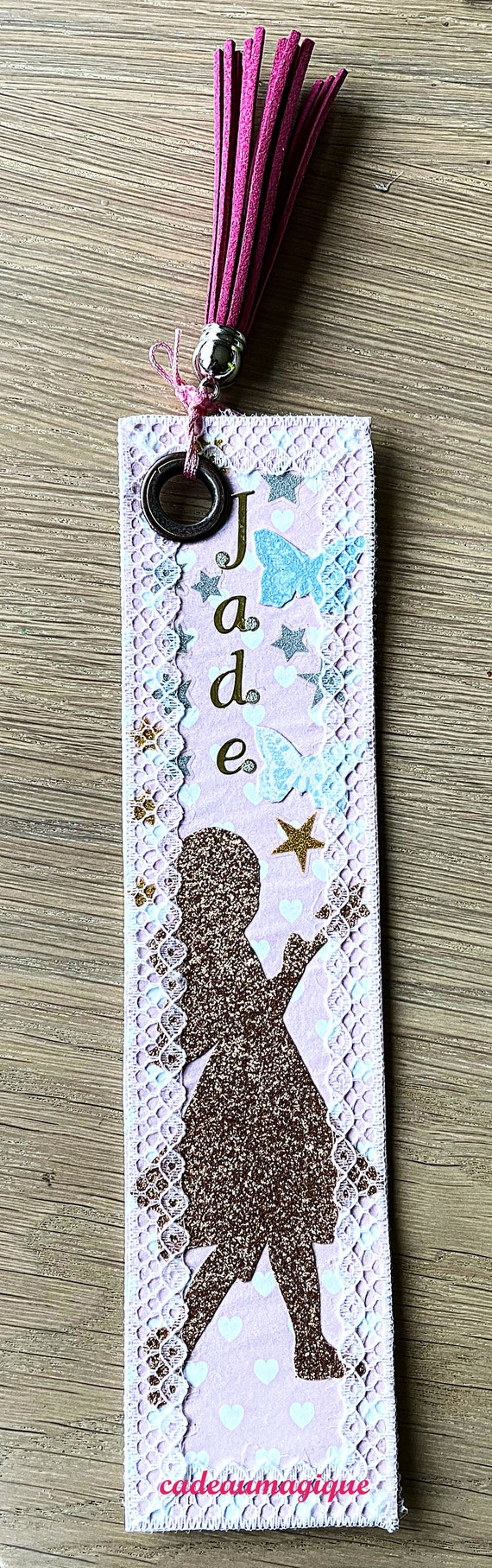 Brand page personalized sequins pompom faux leather gift idea to customize