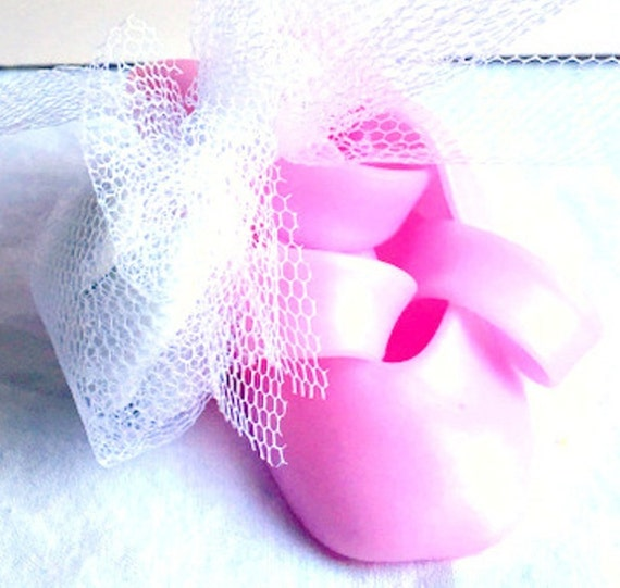 pink ballerina shoes in fimo birthday birth gift