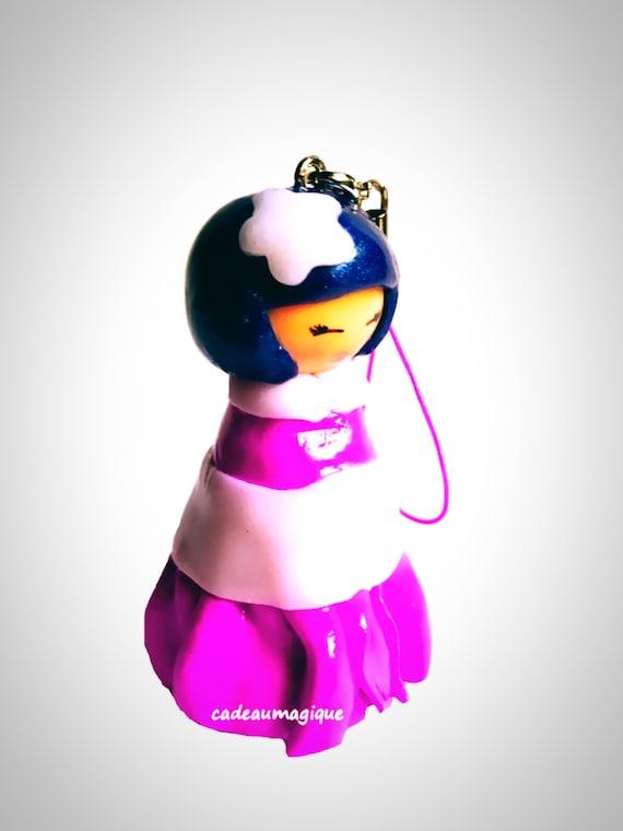 kimmidoll kimono figurine Japanese lavender fimo gift girl