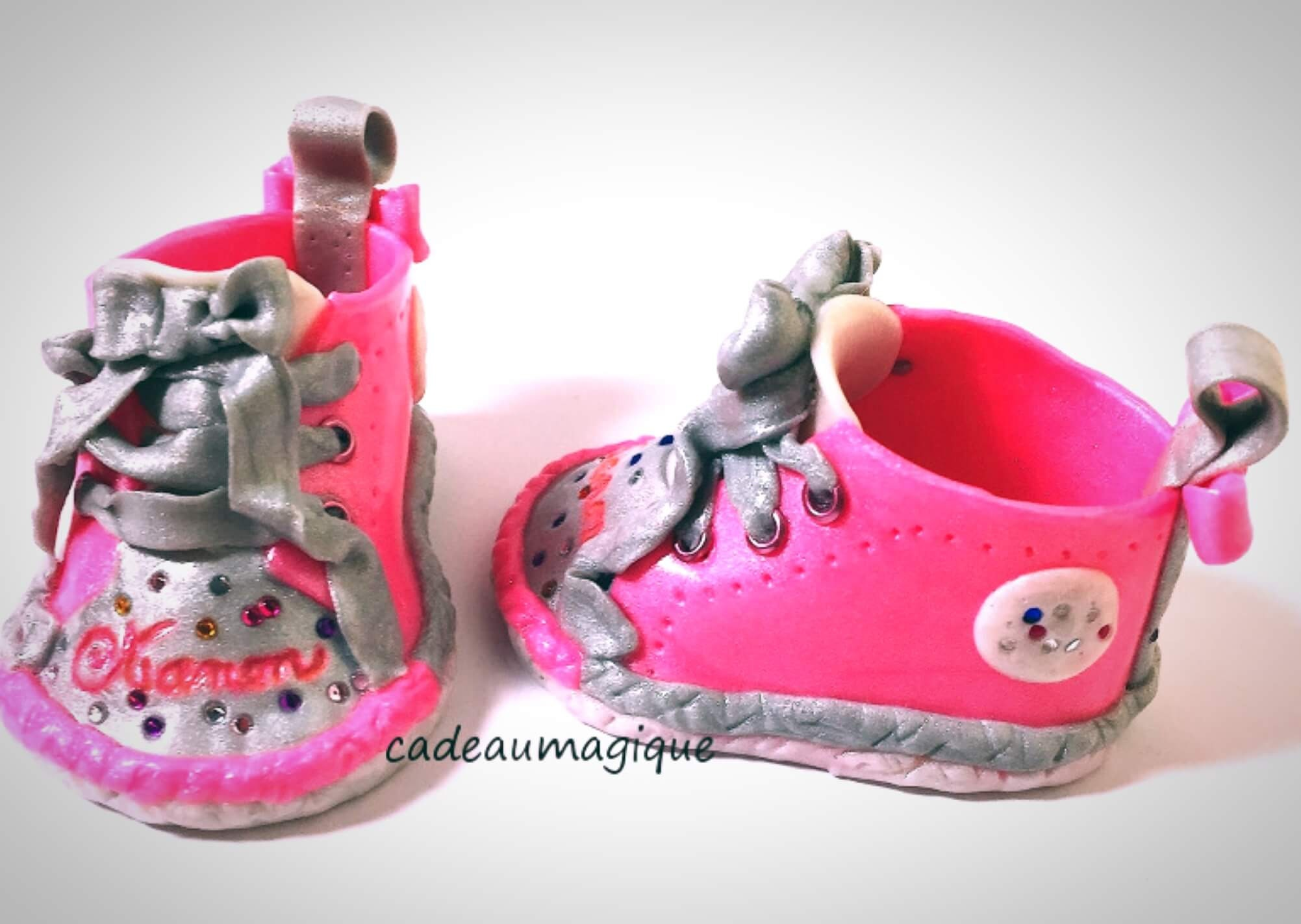 Cadeau Rigolo Baby Shower chaussures converse bébé fille cadeau annonce grossesse baby shower  decoration