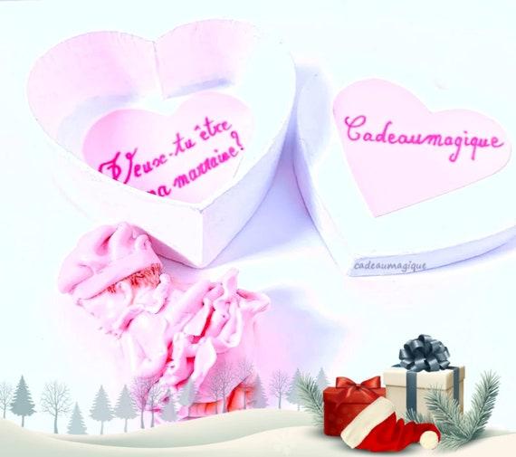 fimo baby cardboard heart box - pregnancy announcement