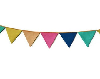 colorful bunting- flag, garland for Teepee, tent flag, camp flag, banner, kids teepee bunting, nursery home decor