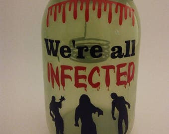 Zombie Candle Jar - Zombie Decorative Jar - The Walking Dead Inspired