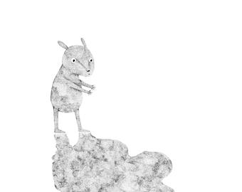 Chasing the butterflies- Original ink drawing by Nana Sakata