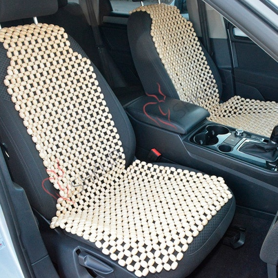 Wood Car Seat Cover Massage Back Massager Orthopedic