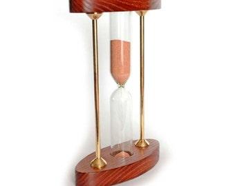 Wooden sand clock Hourglass timer Sand hourglass  Wooden hourglass  Sand timer  Sandglass  Hourglass kit