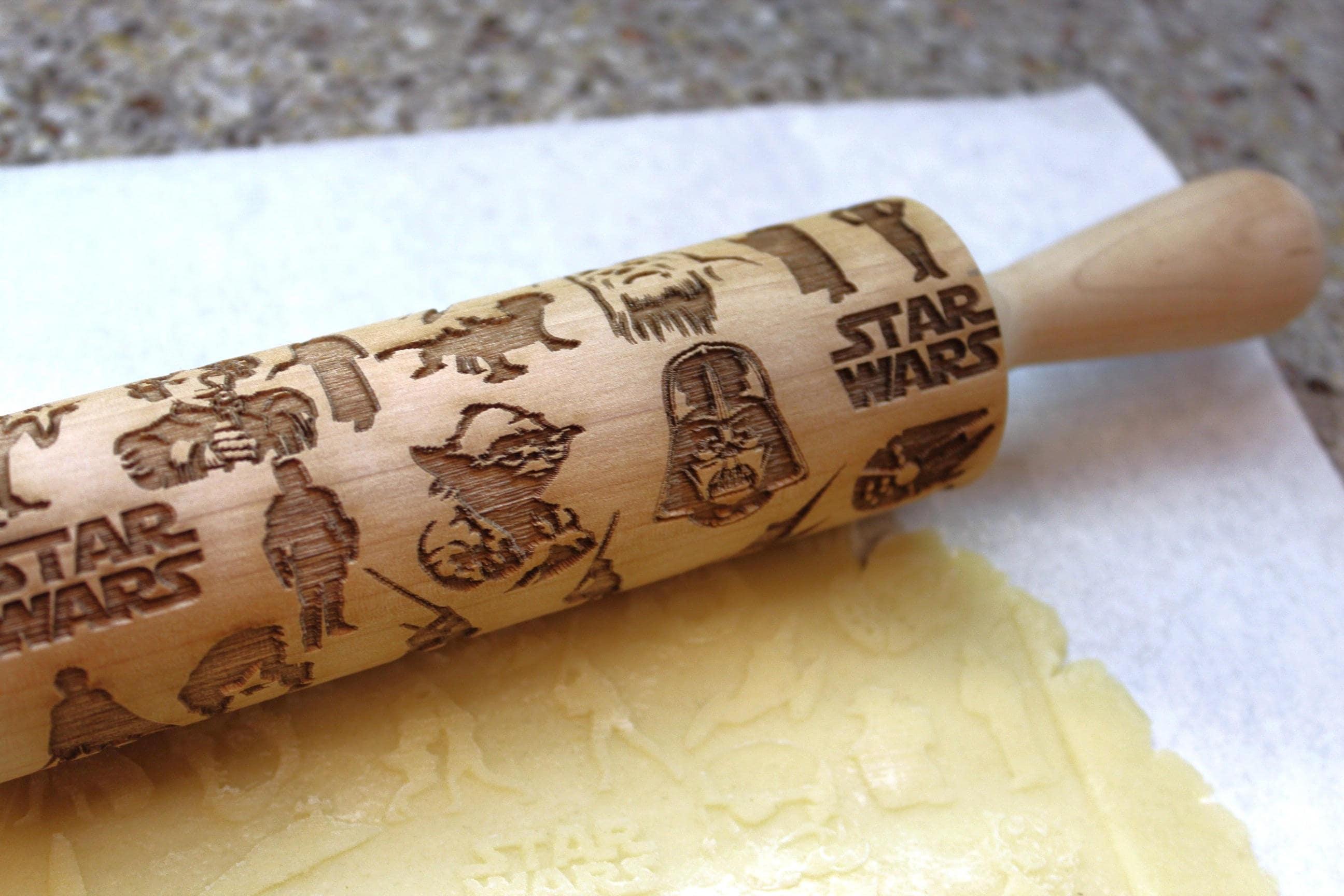 Star Wars Embossing Rolling Pin Laser Engraved Rolling Pin