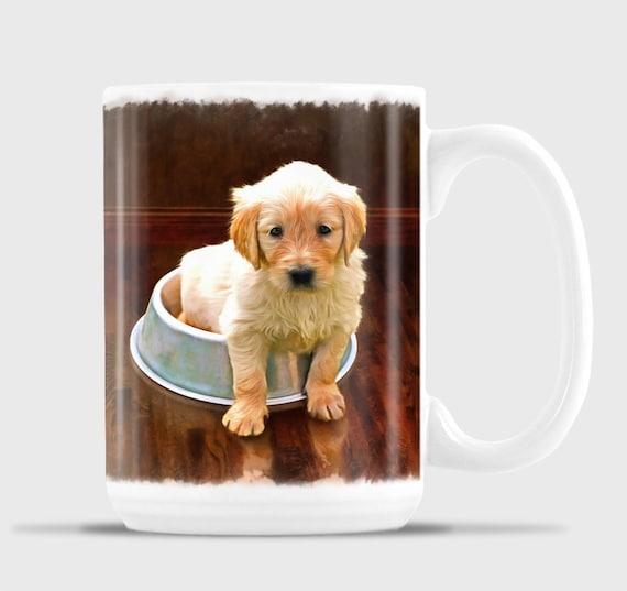 Noël Labrador chiots dans le thé tasses T-shirt femme