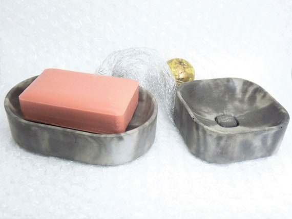 Concrete soap dish marbled-soap tray-sponge tray-gift