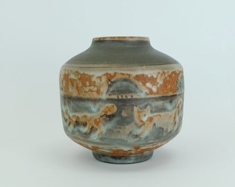 rare majolika karlsruhe VASE jug eva fritz lindner 1960s animal decor