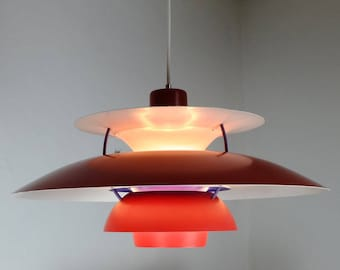 Ph5 lamp etsy poul henningsen louis poulsen ph5 pendant lamp in red aloadofball Image collections