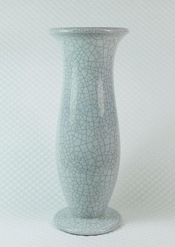25 cm West Germany 1970s Karlsruher Majolika vase Fridegard Glatzle