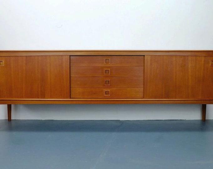 Featured listing image: danish modern teak SIDEBOARD credenza h. w. kleinl for bramin 60s