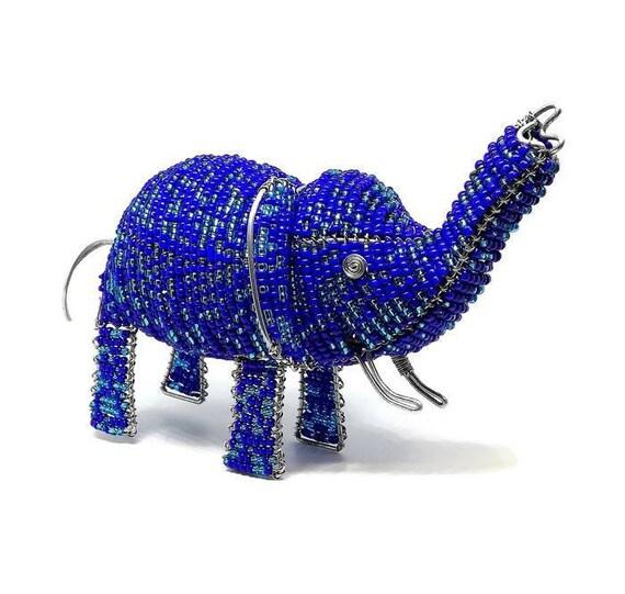 Wire Beaded Elephant