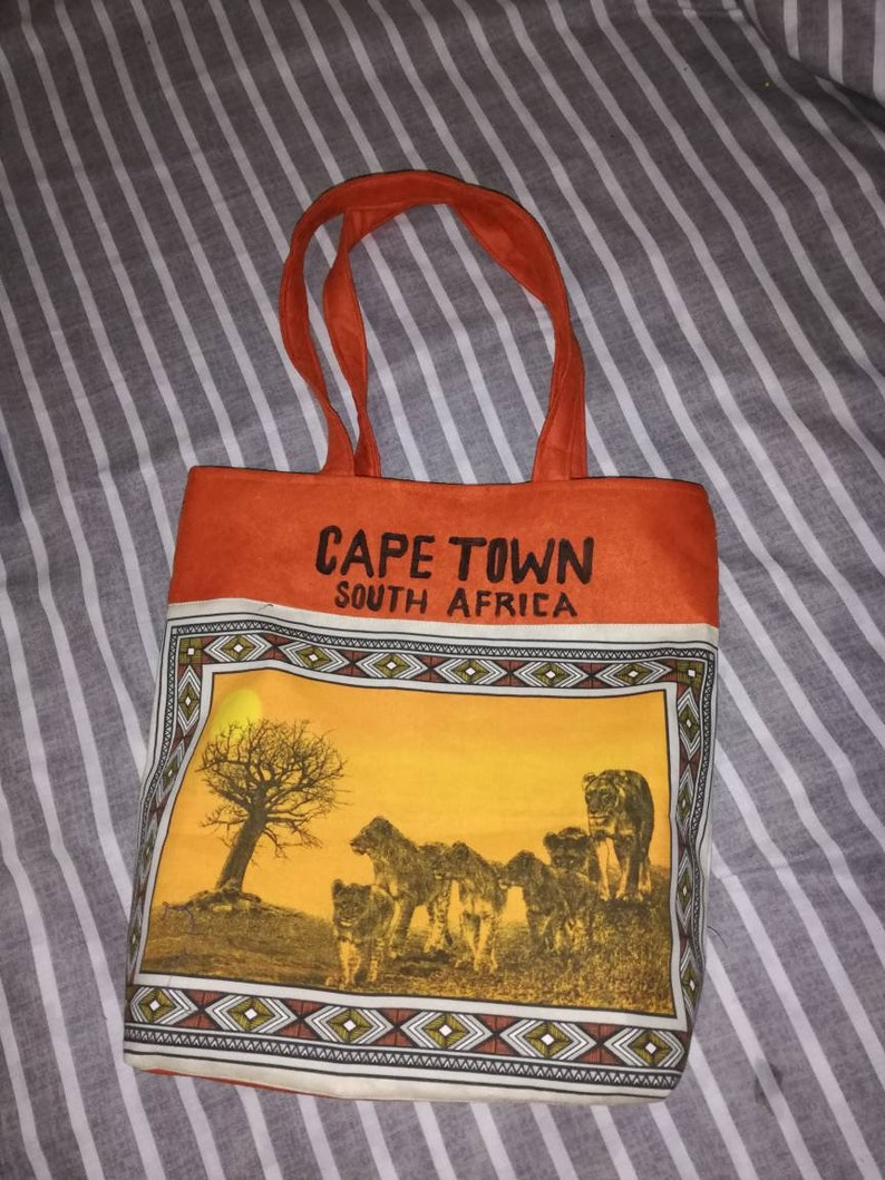 South African Tourists Bags Faux Leather Suede And African Print Cosmetics Shoulder Bag Cape Town Unique Gifts Items