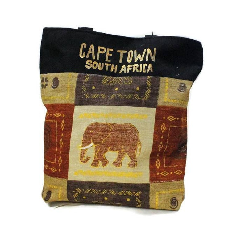 South Africa Tourists Bags African Wildlife Print Shweshwe Shoulder Bags Unique Cape Town Gifts For Her Suede Faux Leather Cosmetics Bag