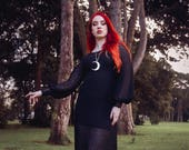 Sansa Dress, Alternative, Gothic, Evening Wear, Formal Wear, Maxi Dress, Game of Thrones, Dramatic, Black, Full Sleeve, Lace