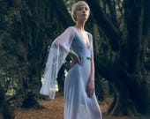 Stormborn Dress, Silver, Mesh, Bridesmaid, Bridal, Game of Thrones, Alternative, Gothic, Edgy, Evening Wear, Formal, Sequins