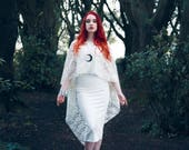Bride of Westeros, Wedding Dress, Bridal, Bridesmaid, Alternative, Edgy, Dramatic, Game of Thrones, Cape, Lace, Ivory, Gothic, Evening Wear