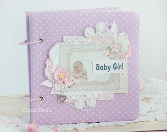 Baby Photo Album Baby Girl Album Scrapbook Album Photo Album Etsy