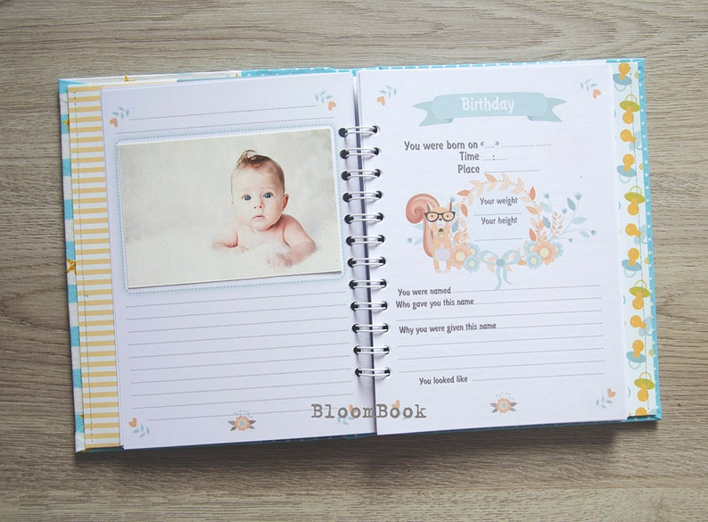 Personalized Baby memory Book Boy Personalized Baby Photo ...